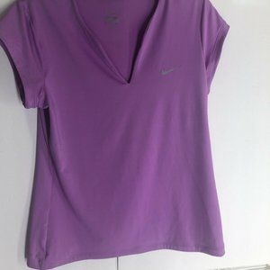 Women's Nike Dri Fit Athletic Tennis Shirt Purple